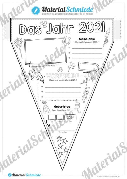 Das Jahr 2021 (Wimpel / Wimpelkette)