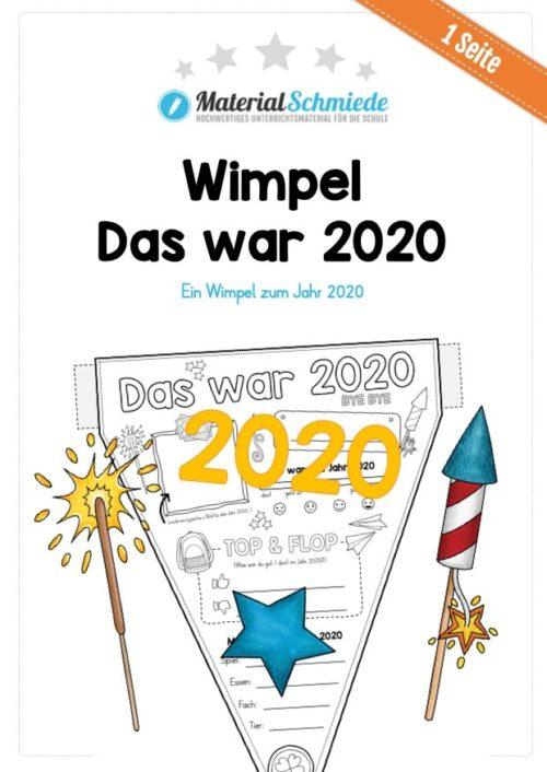 So war das Jahr 2020 (Wimpel / Wimpelkette) Vorschau