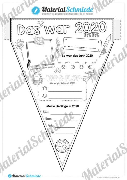 So war das Jahr 2020 (Wimpel / Wimpelkette)