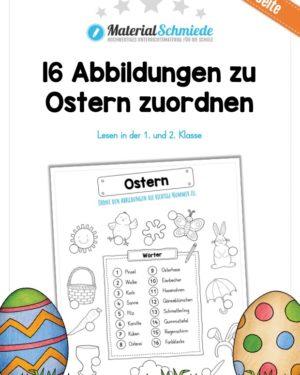 16 Abbildungen zu Ostern zuordnen