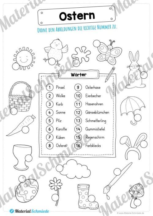 16 Abbildungen zu Ostern zuordnen (Vorschau)