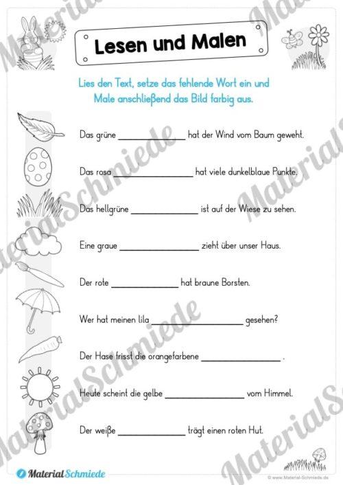 Lesen & Malen zu Ostern (Vorschau 05)