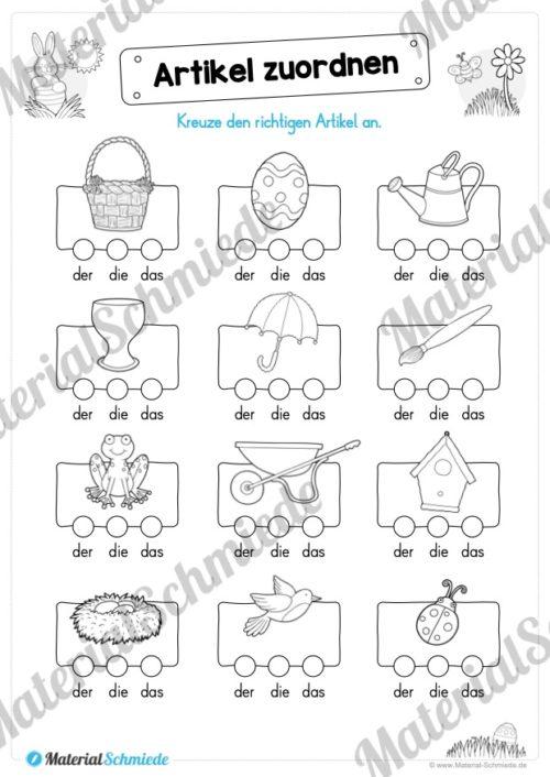 Materialpaket Ostern: Deutsch (1/2 Klasse) - Vorschau 01