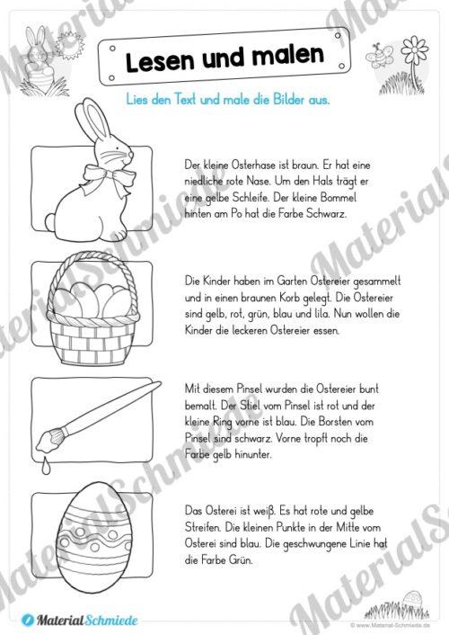 Materialpaket Ostern: Deutsch (1/2 Klasse) - Vorschau 02