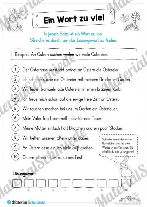 Materialpaket Ostern: Deutsch (1/2 Klasse) - Vorschau 06