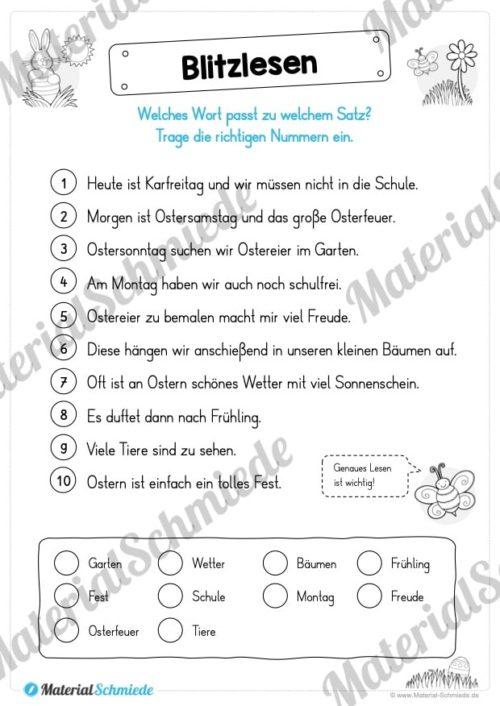 Materialpaket Ostern: Deutsch (1/2 Klasse) - Vorschau 07