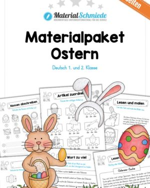 Materialpaket Ostern: Deutsch (1/2 Klasse)