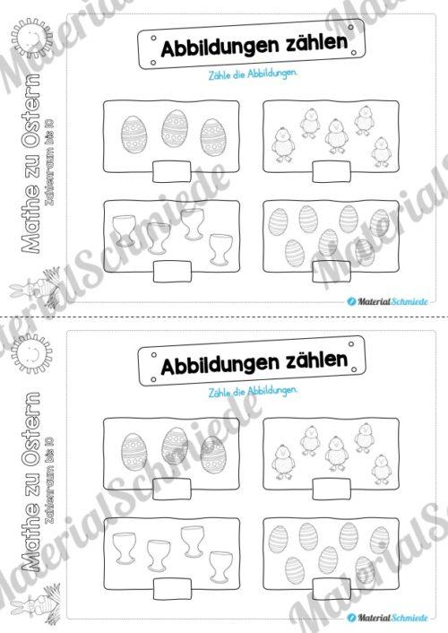 Mathe Übungen Ostern - Zahlenraum bis 10 (Vorschau 02)
