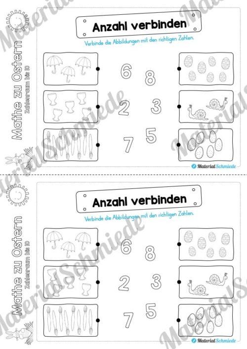 Mathe Übungen Ostern - Zahlenraum bis 10 (Vorschau 04)