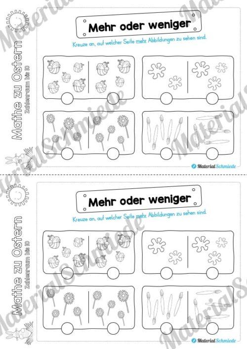 Mathe Übungen Ostern - Zahlenraum bis 10 (Vorschau 05)