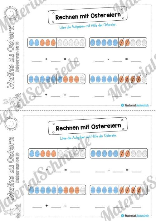 Mathe Übungen Ostern - Zahlenraum bis 10 (Vorschau 08)