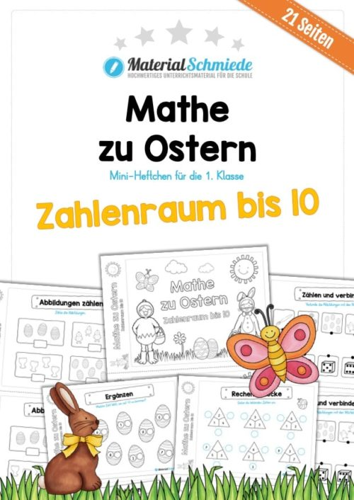 Mathe Übungen Ostern - Zahlenraum bis 10