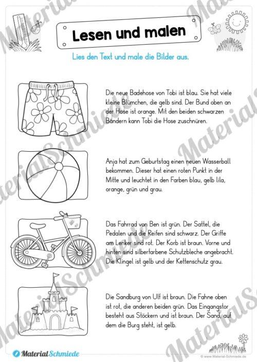 Materialpaket Sommer (25 Deutsch Arbeitsblätter) - Vorschau 04