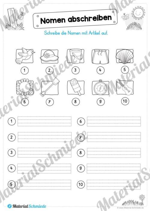 Materialpaket Sommer (25 Deutsch Arbeitsblätter) - Vorschau 06