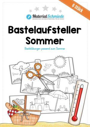 6 Bastelaufsteller zum Sommer