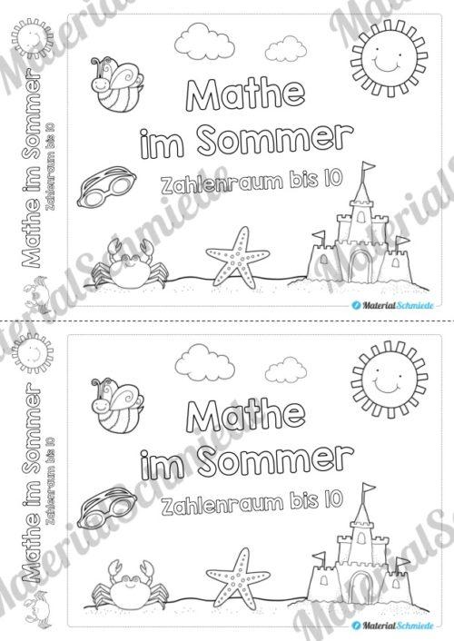 Mathe Übungen Sommer - Zahlenraum bis 10 (Vorschau 01)