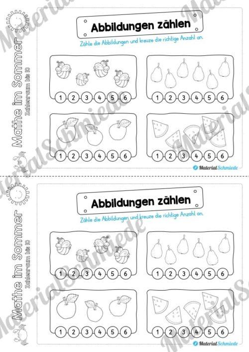 Mathe Übungen Sommer - Zahlenraum bis 10 (Vorschau 05)
