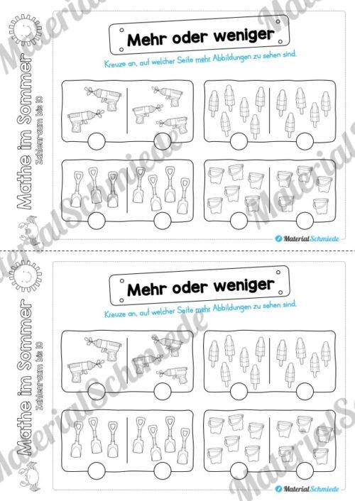 Mathe Übungen Sommer - Zahlenraum bis 10 (Vorschau 07)