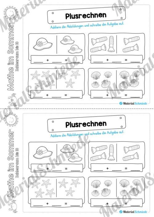 Mathe Übungen Sommer - Zahlenraum bis 10 (Vorschau 08)