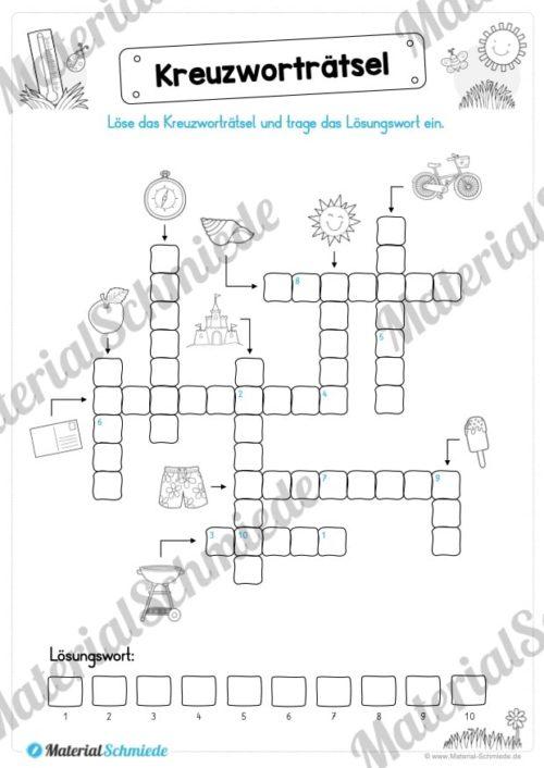 15 Rätsel zum Sommer für die 1. und 2. Klasse (Vorschau 01)