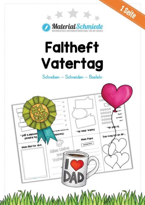 Vatertag Faltheft