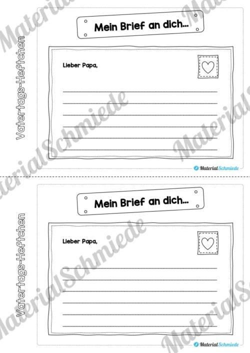 Mini-Heftchen zum Vatertag (Vorschau 05)