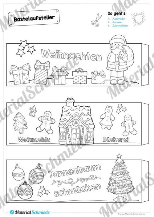 6 Bastelaufsteller zu Weihnachten (Seite 1)