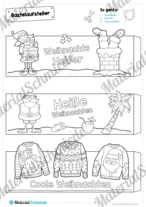 6 Bastelaufsteller zu Weihnachten (Seite 2)