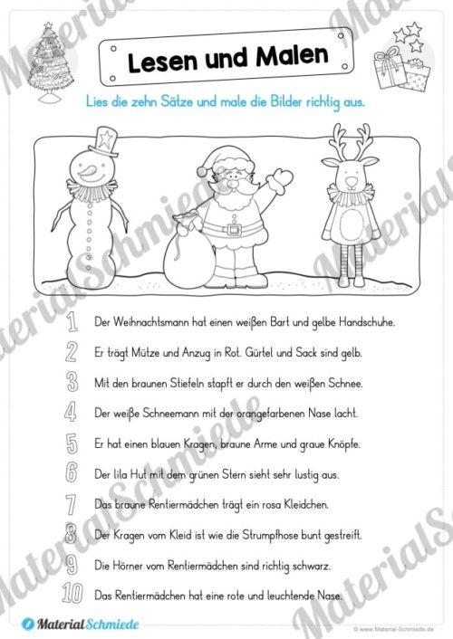 Lesen & Malen zu Weihnachten (Vorschau 05)