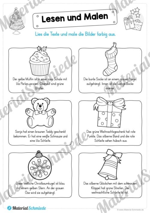 Lesen & Malen zu Weihnachten (Vorschau 06)
