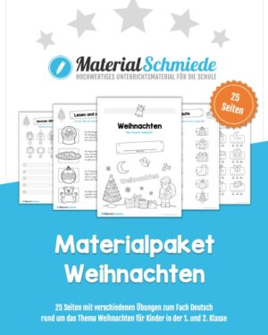 Materialpaket Weihnachten: 25 Arbeitsblätter