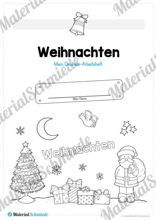 Materialpaket Weihnachten: 25 Arbeitsblätter (Deckblatt)
