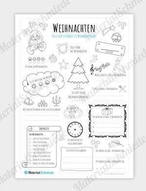 Steckbrief Weihnachten für die Grundschule