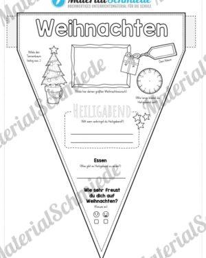 Wimpel / Wimpelkette zu Weihnachten