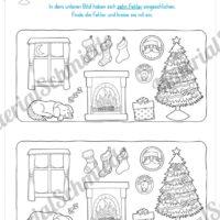 fehlersuchbilder für kinder weihnachten - fehlersuchbild spielplatz finde die unterschiede