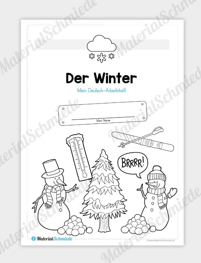 Materialpaket Winter Deutsch 1 2 Klasse