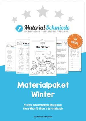 Materialpaket Winter: Deutsch (1/2 Klasse)