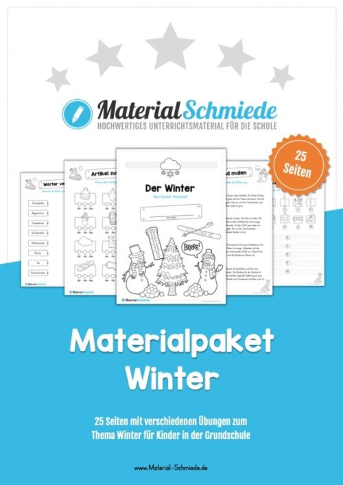 Materialpaket Winter: Deutsch (1/2 Klasse)