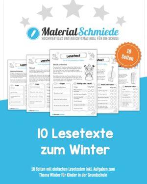 10 Lesetexte zum Winter (mit Aufgaben)