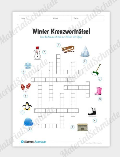 Winter Kreuzworträtsel