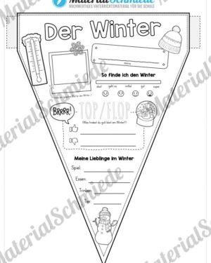 Wimpel / Wimpelkette zum Winter
