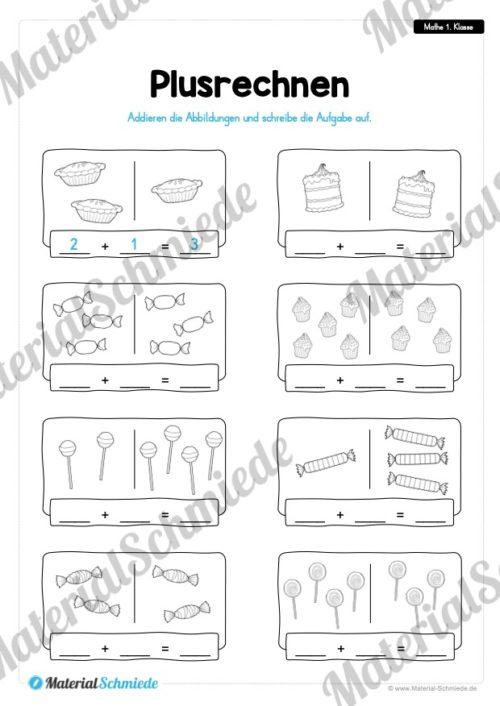 20 Mathe Übungen 1. Klasse (Plusrechnen)