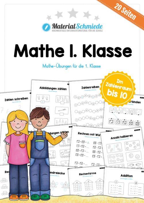 Mathe 1. Klasse (20 Arbeitsblätter & Übungen)