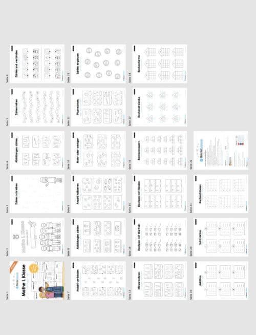 20 Mathe Übungen 1. Klasse (Überblick)