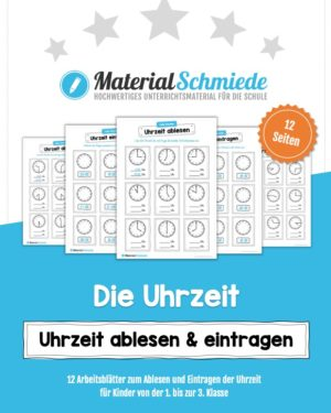 MaterialPaket: Uhrzeit ablesen und eintragen