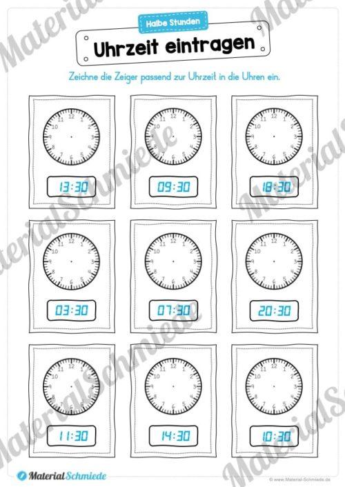 MaterialPaket: Uhrzeit ablesen und eintragen (Vorschau 03)