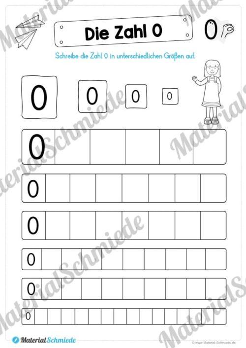 Zahl 0 schreiben lernen (Vorschau 05)