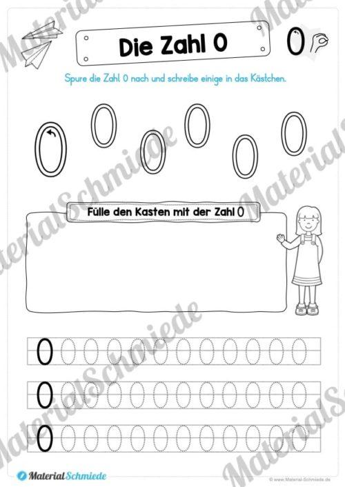 Zahl 0 schreiben lernen (Vorschau 09)