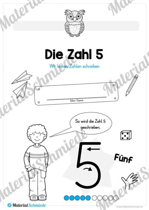 Zahl 5 schreiben lernen (Vorschau 01)