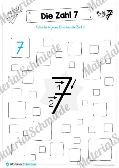 Zahl 7 schreiben lernen (Vorschau 08)